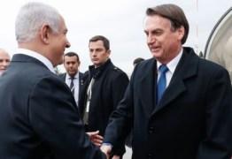 Bolsonaro chega a Israel e defende parcerias em segurança e defesa