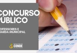 Inscrições para o Concurso da Prefeitura Municipal de Conde encerram nesta segunda-feira (15)