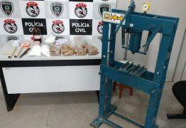 Polícia desativa laboratório de refino de entorpecentes em Campina Grande