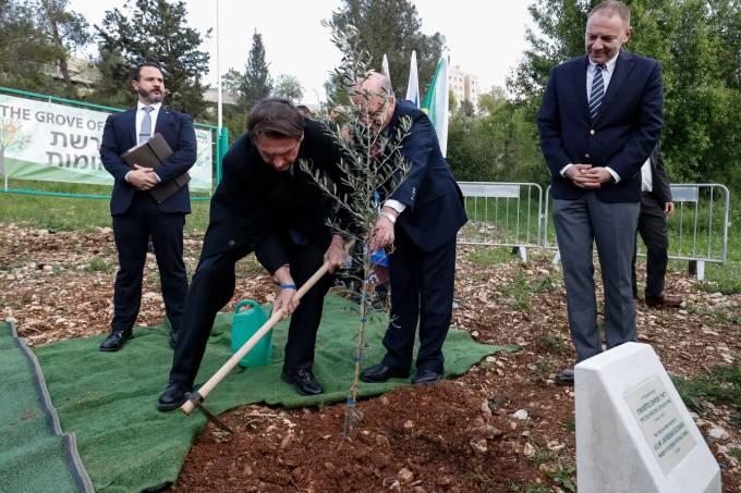 bolsoarvore - DISPUTA POLÍTICA: 'Minha árvore crescerá mais que a de Lula', diz Bolsonaro em Israel