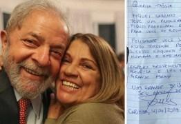 Lula envia carta escrita a mão à atriz Tássia Camargo desejando melhoras