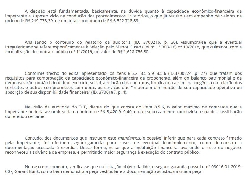 4 - EFICÁCIA RESTABELECIDA: Juiz libera pagamento da Cagepa à empresa vencedora de licitação