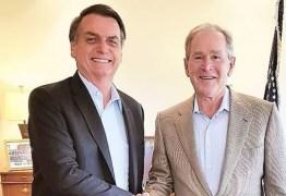 'CONVERSA PRODUTIVA': Bolsonaro se reúne com George W. Bush nos Estados Unidos