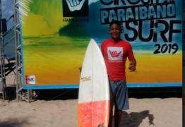 Com incentivo da prefeitura de Conde, atleta conquista dois troféus no Circuito Paraibano de Surf 2019