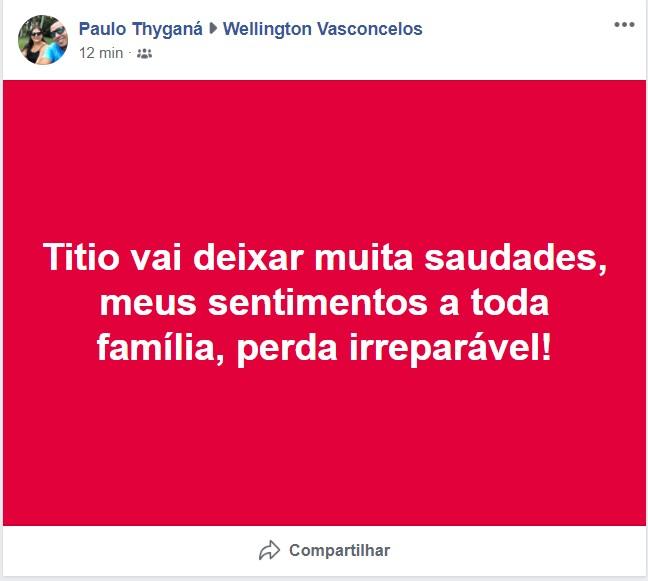 Capturar 51 - LUTO: morre aos 58 anos,Wellington Feitosa de Vasconcelos