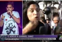 Repórter do SBT sofre tentativa de furto durante velório de Gabriel Diniz: VEJA VÍDEO