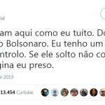 LULA PRESO - 'SE ELE NÃO CONTROLA O FILHO, IMAGINA EU PRESO': Lula ironiza a própria situação em crítica a Bolsonaro no Twitter