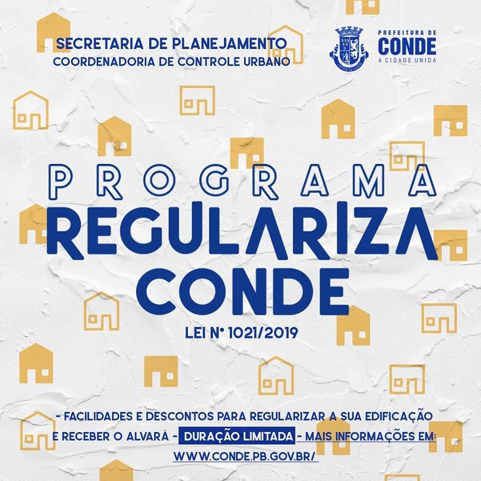 Regulariza Conde - Prefeitura de Conde lança programa de regularização de construções irregulares na cidade