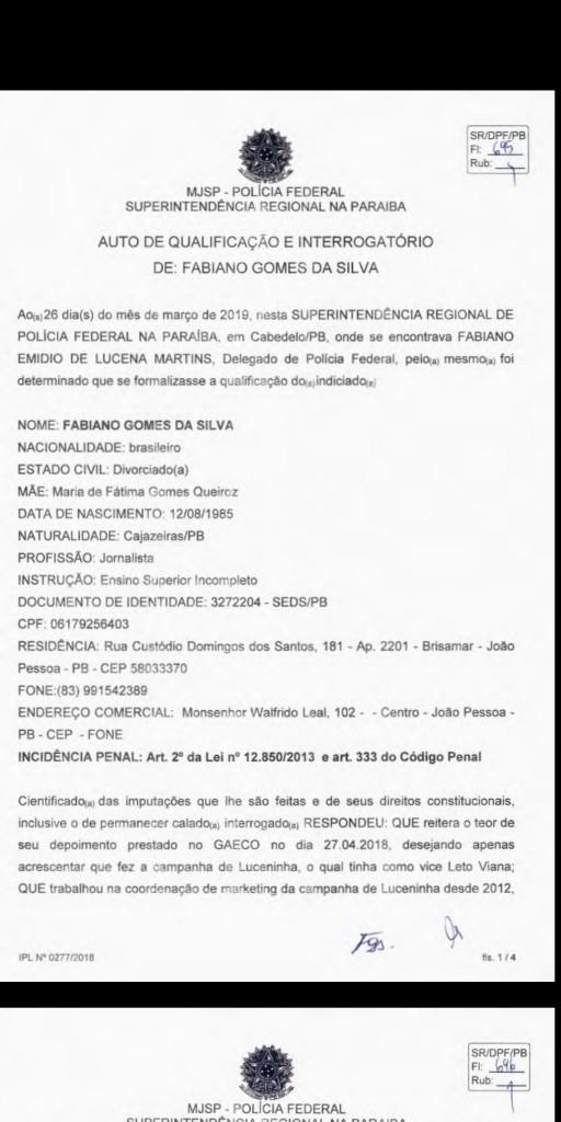 Screenshot 20190518 104337 512x1024 - EXCLUSIVO: Advogado diz que Fabiano Gomes revelou para Polícia Federal que Roberto Santiago não pressionou testemunhas - VEJA TODO O DEPOIMENTO