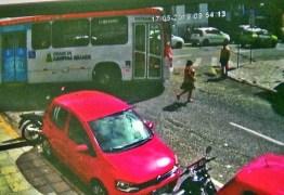 ACIDENTE: Câmera flagra idosa sendo atingida por ônibus em Campina Grande; VEJA VÍDEO