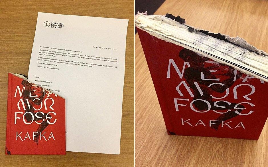 csm livro cortado 25 por cento livraria leonardo da vinci presente ministro weintraub fb6531d46b - Livraria ironiza e envia clássico de Kafka com 25% de corte para ministro da Educação