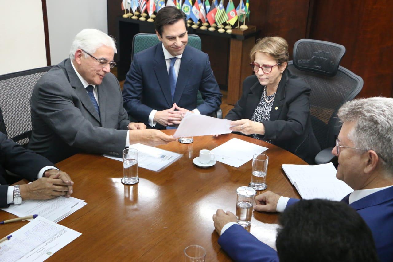 eaff - Efraim Morais participa de reunião com a ministra da Agricultura Tereza Cristina