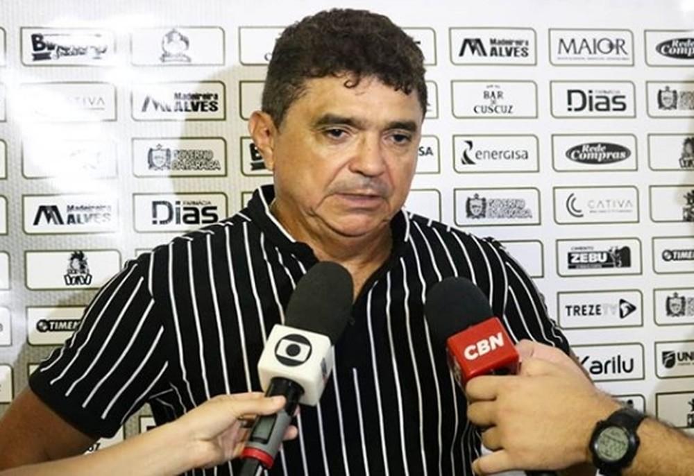 Flávio Araújo sinaliza alterações no time do Treze: 'Temos que começar a fazer mudanças'