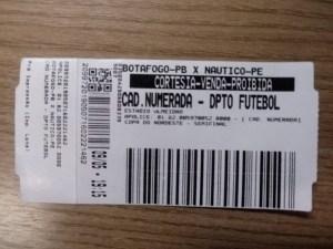 ingresso cortesia botafogo 300x225 - Sete homens são detidos suspeitos de venda ilegal de ingressos no Almeidão, em João Pessoa