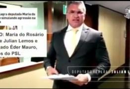 NINJA NA REDE: Julian Lemos cumpre promessa e protocola representação contra deputada Maria do Rosário após 'entrevero' na Câmara