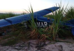 Avião usado para publicidade do Cirque Amar sofre pane e cai em Santa Rita