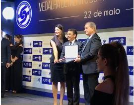 merito transposte - RECONHECIMENTO POR MELHORIAS: Empresário José Arlan Silva Rodrigues é condecorado com Medalha de Mérito do Transporte - VEJA VÍDEOS DE HOMENAGENS