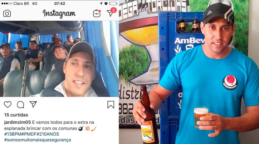 """pm rodriguinho jardim - PM que postou foto falando em """"brincar com comunas"""" será investigado"""