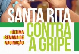 Campanha de vacinação contra gripe chega à última semana em Santa Rita