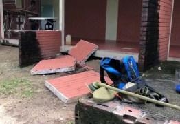 DESCASO E INSEGURANÇA: Trabalhador fica ferido após parede cair sobre ele na UFPB