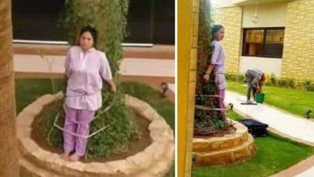 xblog filipina.jpg.pagespeed.ic .cZJ09YdJXy - Empregada é amarrada a árvore como punição aplicada pelos patrões