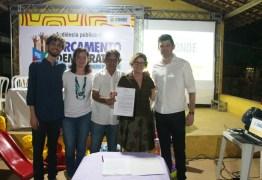 Gurugi recebe a 3ª audiência pública do ODM, Prefeita Márcia Lucena faz entrega de materiais e assinatura de contrato para a nova UBS da região