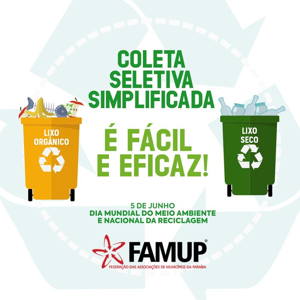 2bbe62fb e080 4c3e 9ce7 7ffc25b5cad2 - Famup lança campanha incentivando municípios a implantar coleta seletiva