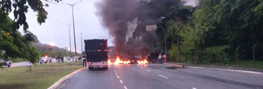 Capturar 27 - GREVE GERAL: Manifestantes bloqueiam pontos em João Pessoa na manhã desta sexta-feira