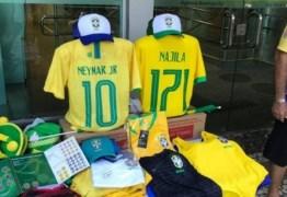 Comerciantes vendem camisa da Seleção com nome de Najila e número 171