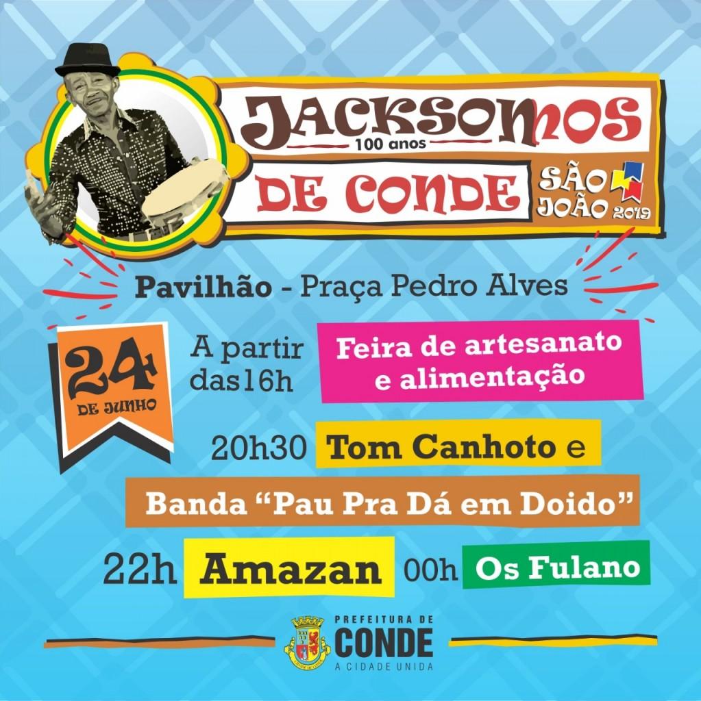 Centro dia 24 - Festejos juninos no Centro de Conde tem shows de Luizinho Calixto e Amazan