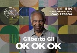Gilberto Gil se apresenta no Teatro Pedra do Reino nesta quinta-feira