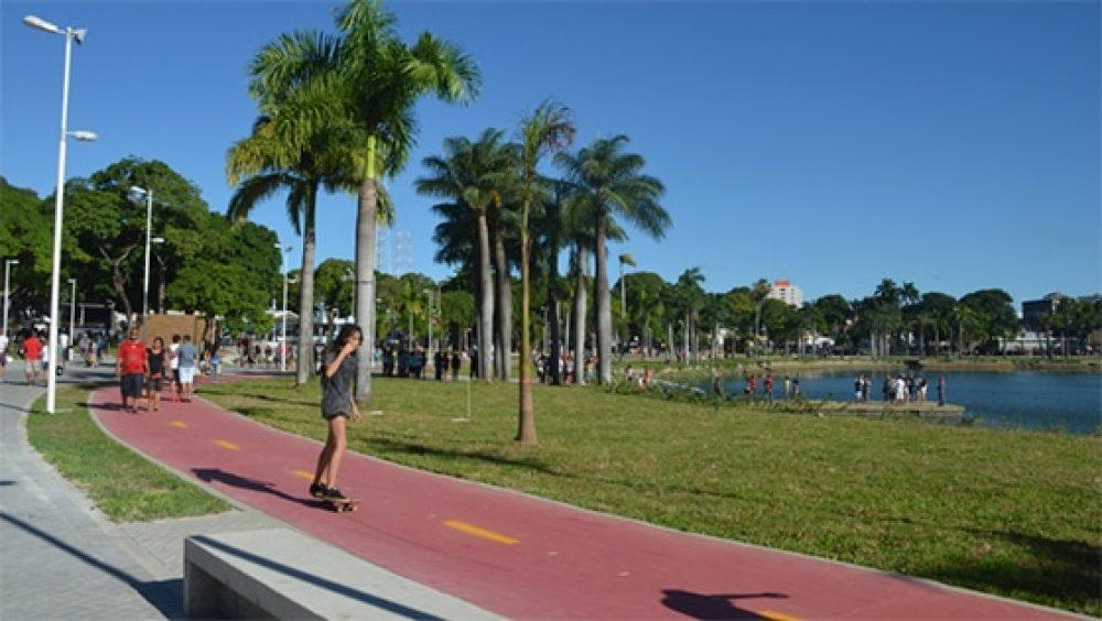 Parque da Lagoa em João Pessoa Foto Helder Moura 7110465 - Parque da Lagoa comemora três anos de revitalização e se consolida como cartão-postal de João Pessoa