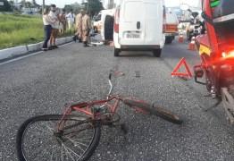 Ciclista é atropelado e morre na BR-230, em João Pessoa