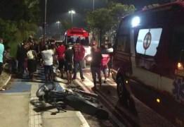 Homem morre e duas pessoas ficam feridas em acidente com moto em João Pessoa