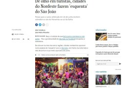 São João de Campina Grande é destaque na Folha de São Paulo
