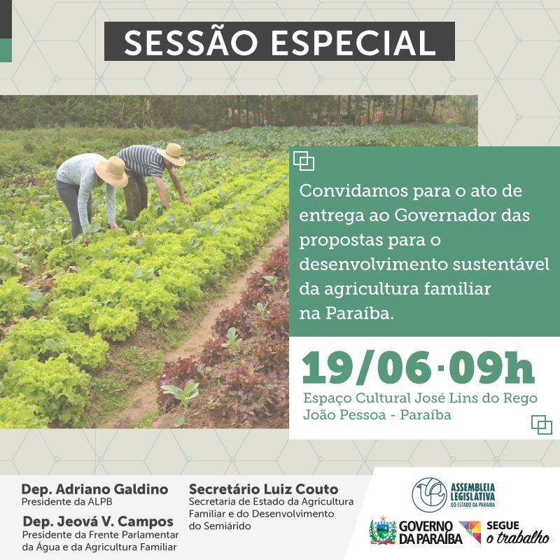 d3ec3017 21b9 44c8 b9a0 dc84bd67d685 - NESTA QUARTA: Governo do Estado e ALPB debatem proposta para desenvolvimento sustentável da agricultura familiar
