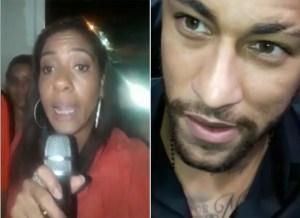 edlaine 300x218 - CAUSADORA: Mulher se passa por repórter e entrevista Neymar na porta de delegacia; VEJA VÍDEO