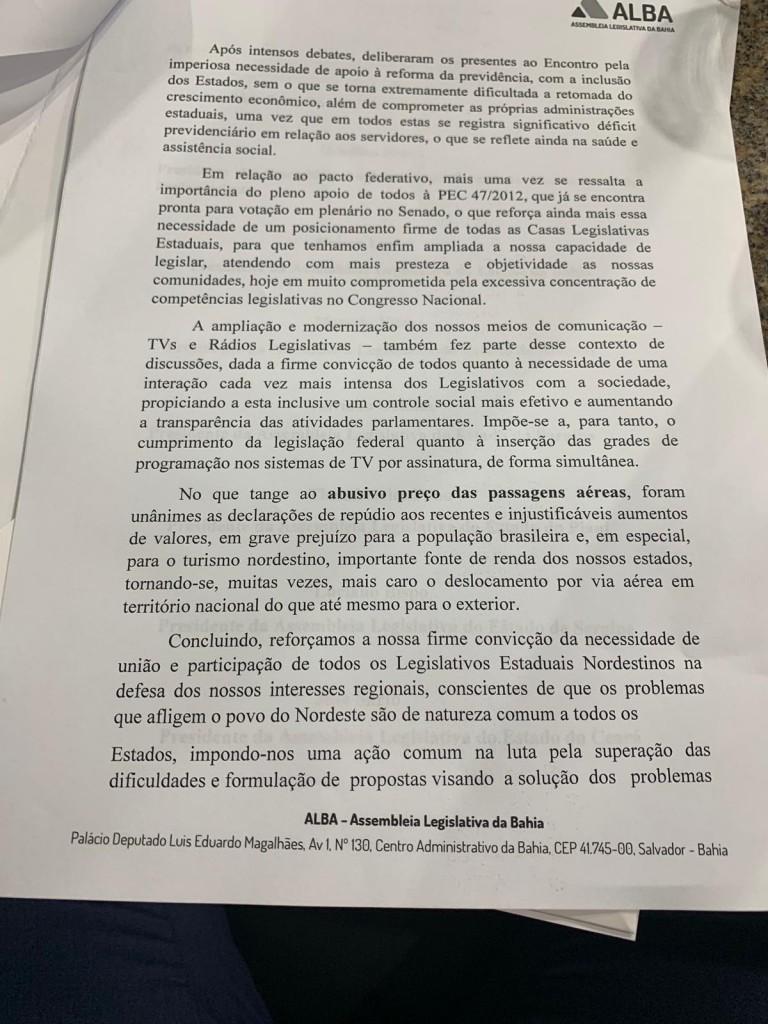 f7ceccd2 dc63 4e8b 98d2 15f2068dcc57 - Adriano Galdino participa de reunião de presidentes de Assembleias Legislativas e discute melhorias para o Nordeste