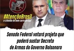 NINJA NA REDE: Julian pede mobilização da população para evitar que PL que susta Decreto de Armas de Bolsonaro seja aprovado no Senado