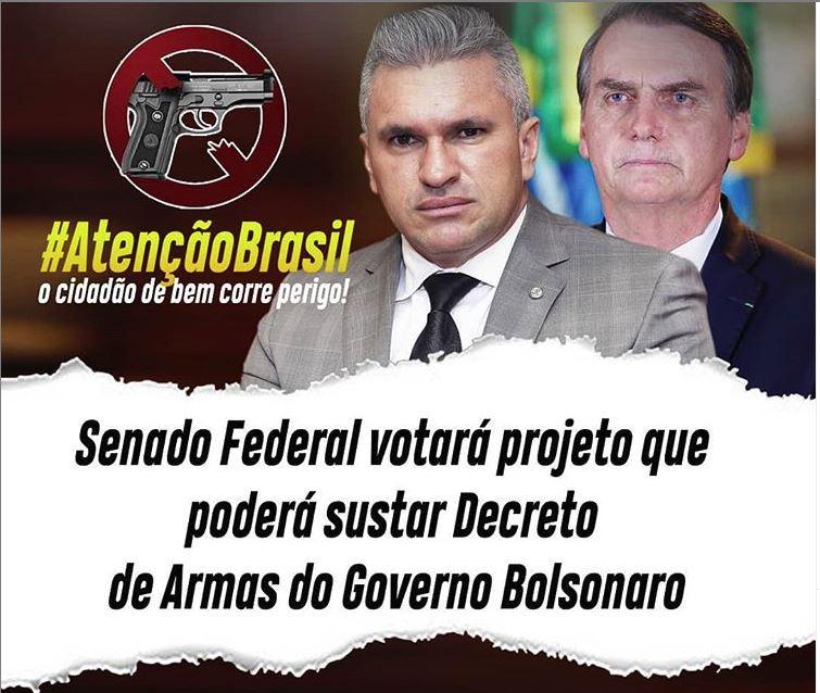 julian - NINJA NA REDE: Julian pede mobilização da população para evitar que PL que susta Decreto de Armas de Bolsonaro seja aprovado no Senado