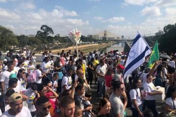 """marcha para jesus - Jair Bolsonaro é o primeiro presidente da república a participar da """"Marcha para Jesus"""""""