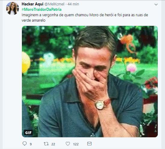 moro04 - #MOROTRAIDORDAPÁTRIA: Protesto virtual contra ministro Sérgio Moro alcança Trending Topics do Twitter