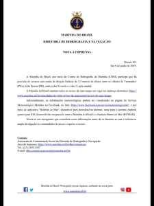 nota marinha 225x300 - RESSACA NO MAR: Marinha emite alerta de ondas com até 2,5 metros em João Pessoa