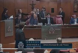 'TÁ ME CHAMANDO DE FULEIRA?': Sandra Marrocos e Eliza Vírginia se alteram em sessão da CMJP e vídeo viraliza nas redes sociais