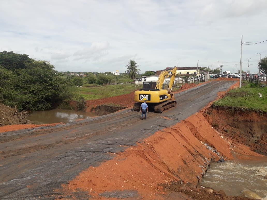 unnamed 2 1 - DER conclui desvio e vai começar reconstrução de ponte em Santa Rita