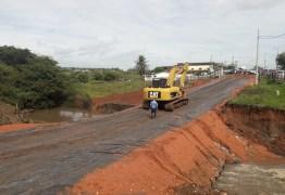 DER conclui desvio e vai começar reconstrução de ponte em Santa Rita