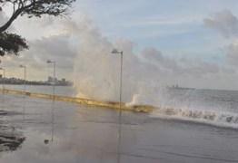 CUIDADO: marinha alerta para ventos fortes e ondas de quase 4 metros no litoral da Paraíba