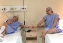 Gêmeas Lacração colocam silicone e mostram resultado nas redes sociais; confira