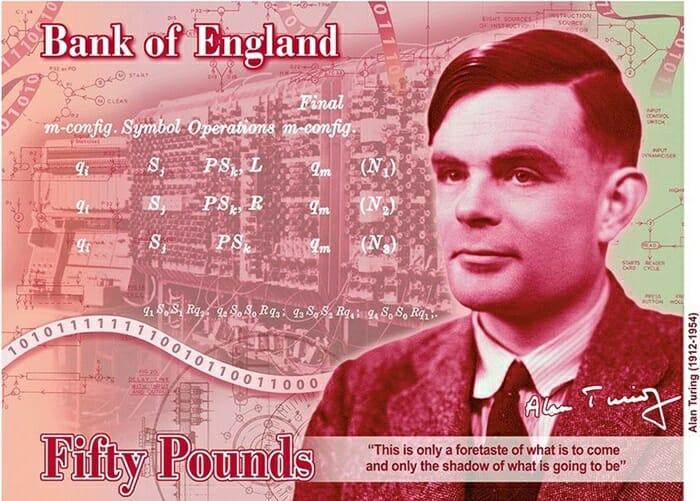 Alan Turing - Alan Turing, gênio matemático castrado por ser gay, vai estampar nota de 50 libras