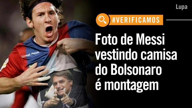 D72AGDtXkAUOwvz - MESSI E BOLSONARO? Assessoria do Barcelona explica imagem de presidente brasileiro em camisa de jogador